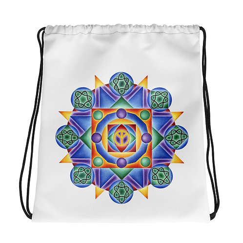 Drawstring Bag Solfeggio Mandala 432Hz