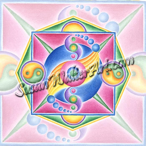 Solfeggio Mandala 864Hz, Spiritual Embrace