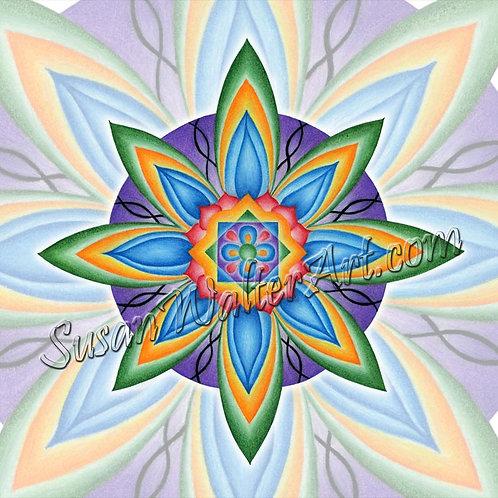 Solfeggio Mandala 813Hz, Spiritual Journey
