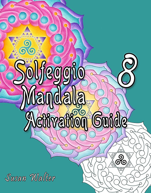 Solfeggio Mandala Adult Coloring Book & Meditation Deck, Cygnus