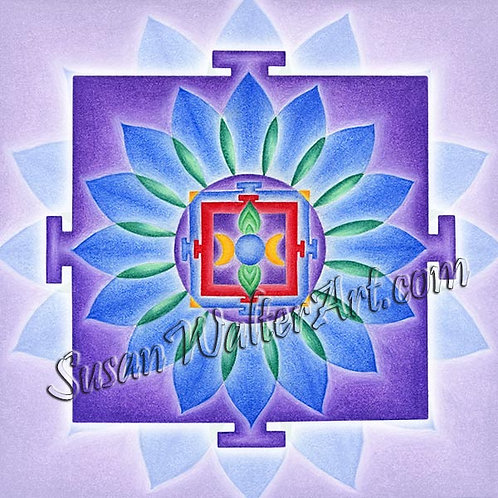 Solfeggio Mandala 738Hz, Awareness of Source