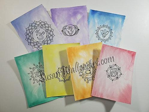 Chakra Greeting Cards Set #2