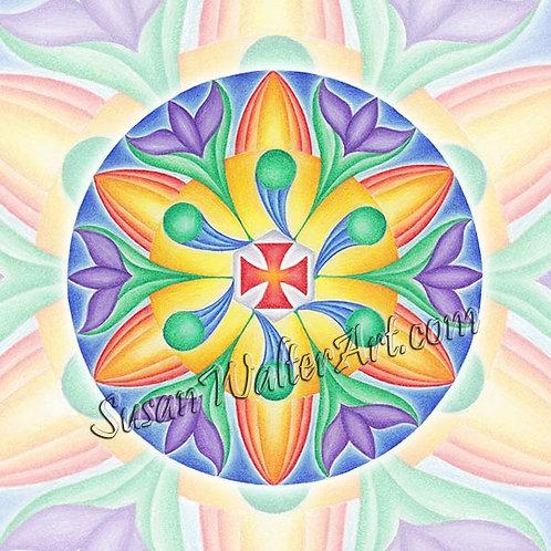 Solfeggio Mandala 951Hz, Unifying Starseeds