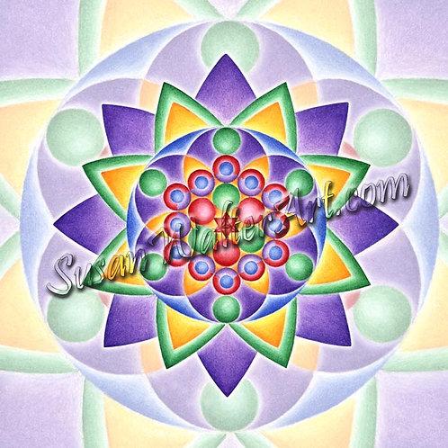 Solfeggio Mandala 975Hz, Communion with Oneness