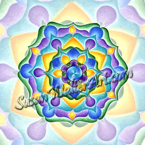 Solfeggio Mandala 963 Hz, Cellular Enlightenment, Oneness