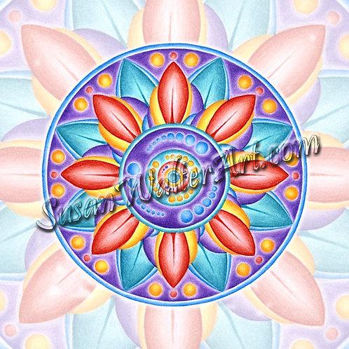 Solfeggio Mandala 297Hz, Remembering Mastery