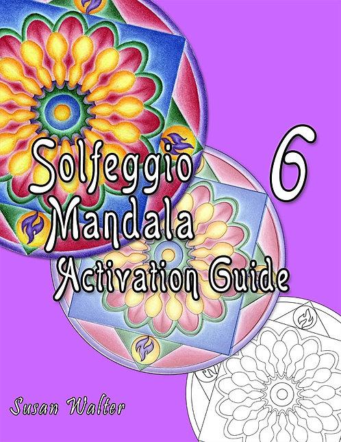 Solfeggio Mandala Adult Coloring Book & Meditation Deck, Pleiadian