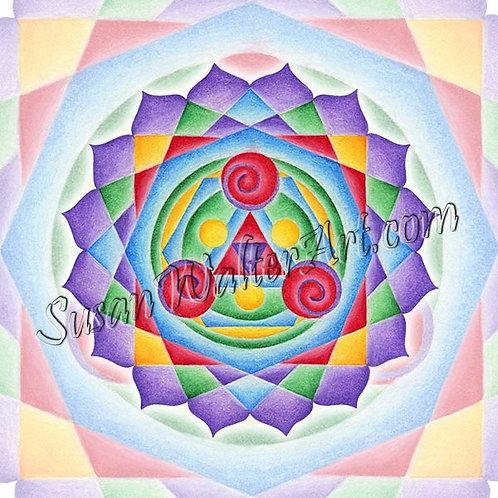 Solfeggio Mandala 627Hz, Activate Starseeds