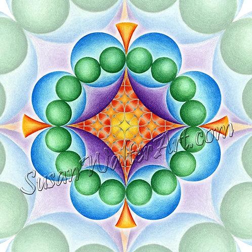 Solfeggio Mandala 678Hz, Revealing Connections