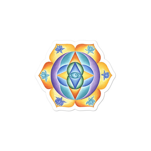 Solfeggio Mandala 111Hz Sticker