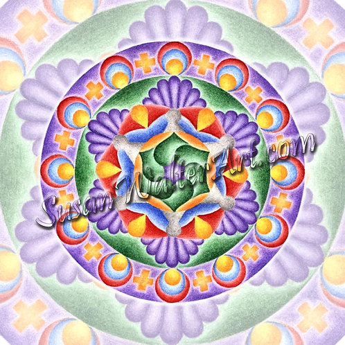 Solfeggio Mandala 615Hz, Connection to Creation