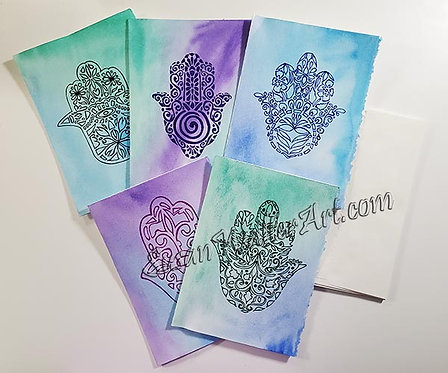 Hamsa Greeting Cards