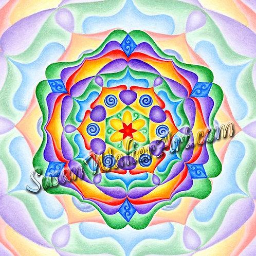 Solfeggio Mandala 285 Hz, Quantum Remembering