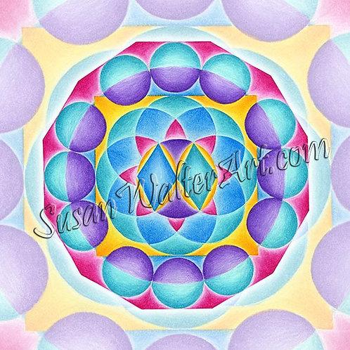 Solfeggio Mandala 384Hz, Revealing Truth