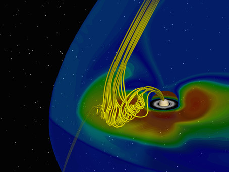 Magnetic Rope observed for the first time between Saturn and the Sun