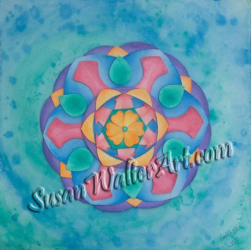 Solfeggio Mandala 174Hz, Releasing/Completing Karma