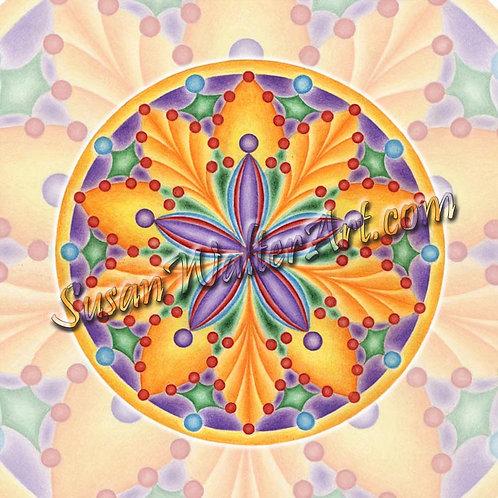 Solfeggio Mandala 876Hz, Spiritual Beings