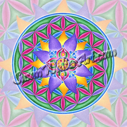 Solfeggio Mandala 543Hz ,    I AM