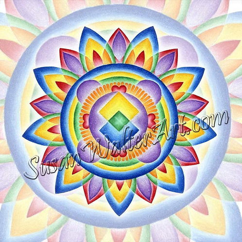Solfeggio Mandala 891Hz, Spiritual Journey Within