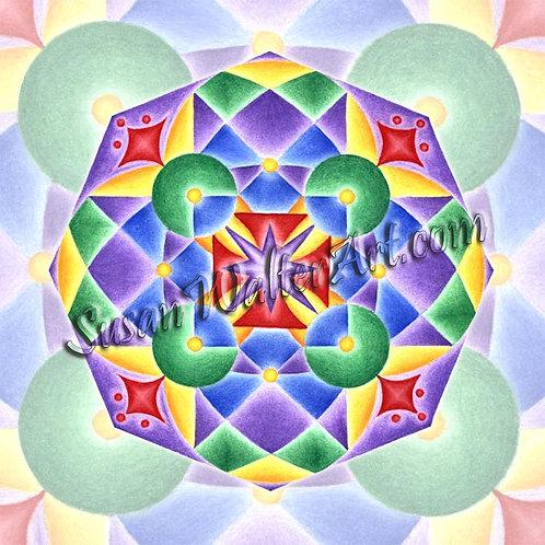 Solfeggio Mandala 888Hz, Infinite Possibilities