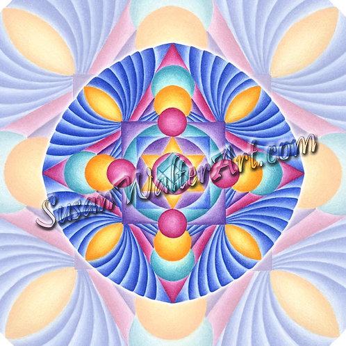Solfeggio Mandala 198Hz, Karmic Relationships