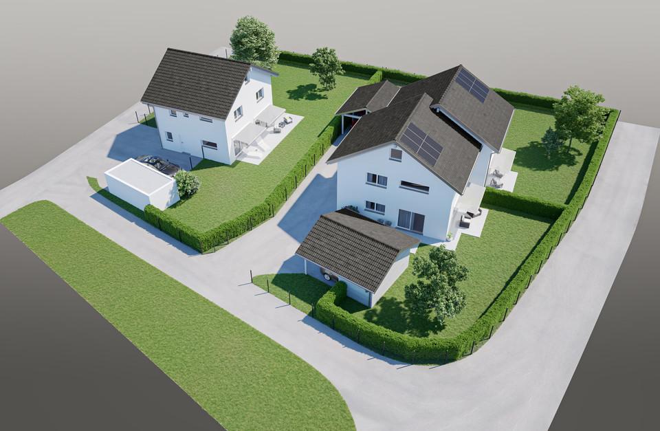 Perspective 3D - 3 villas