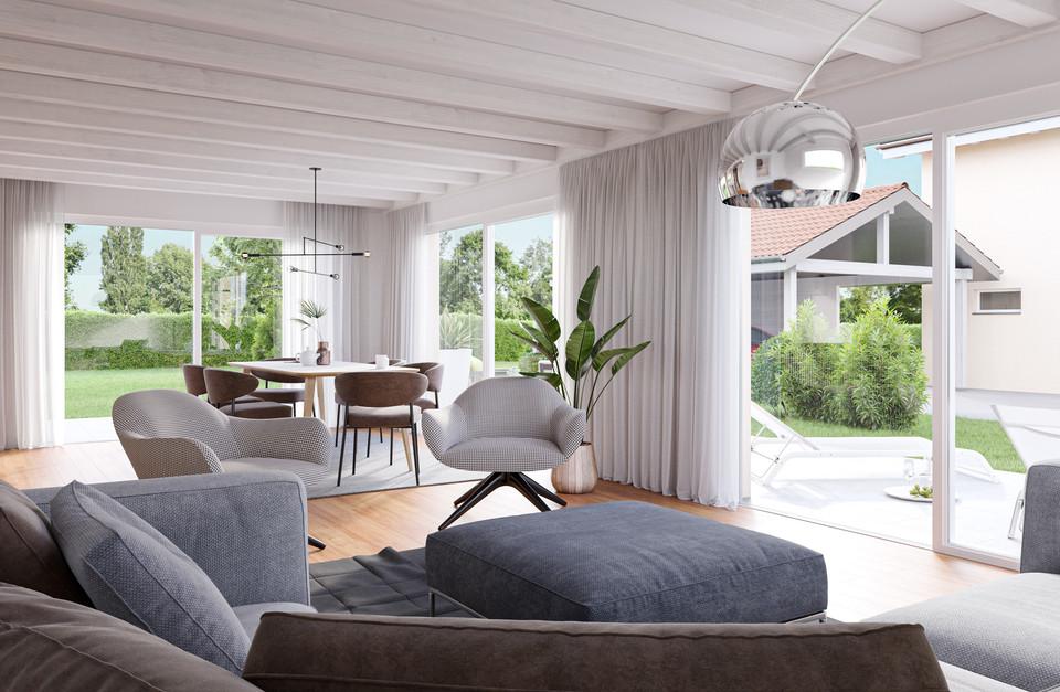 Perspective 3D - Intérieur villa A