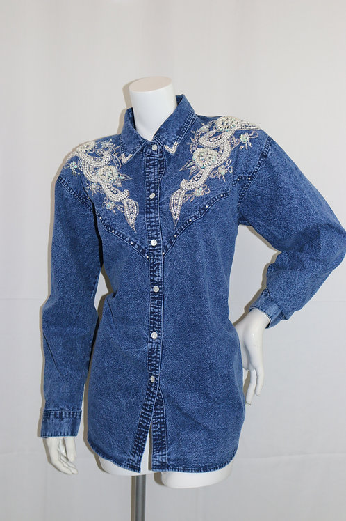 Pearly girl denim shirt