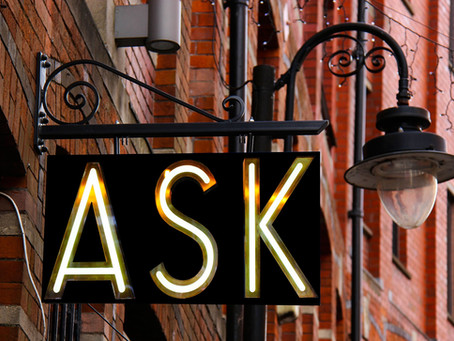 It's okay to ask