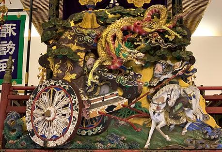 諏訪町:見越『金龍、周の武王を護るの図』