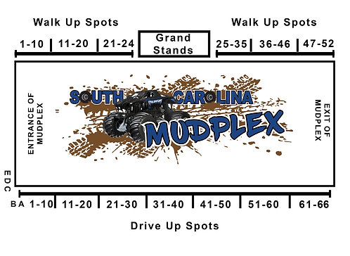 Tailgating Spots MudPlex October 23-24; 26-55