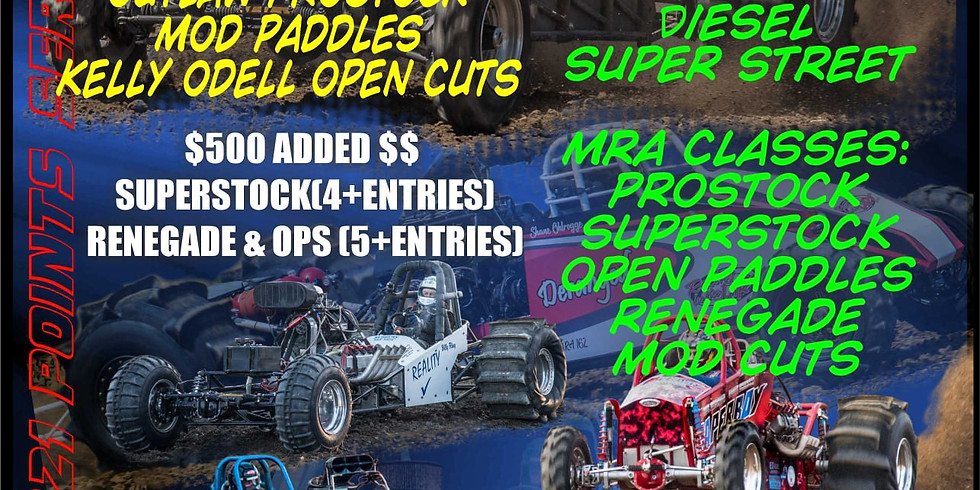 Mud Racers Association (MRA) Championship Dirt Drags 2021 Points Series