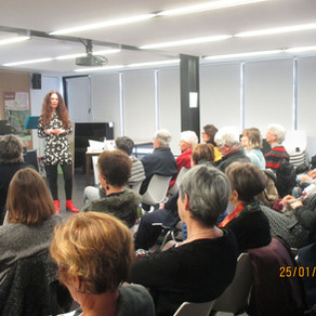 Conférence d'Ingrid Hernandis sur la sophrologie du 25 JANVIER 2020 à la médiathèque de saint Estève