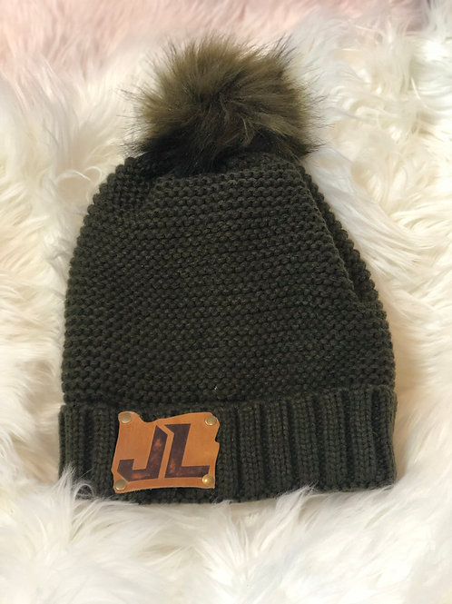 SHERPA Lined Beanie w/ JL Leather Patch