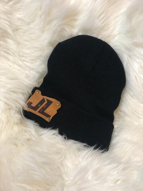 Unisex Beanie w/ JL Leather Patch