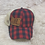 Thumbnail: Ladies lace up back red plaid hat