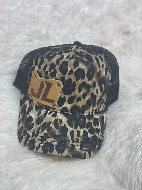 Snapback Ladies Hat Leopard Print