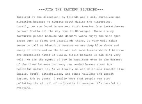The Eastern Bluebird