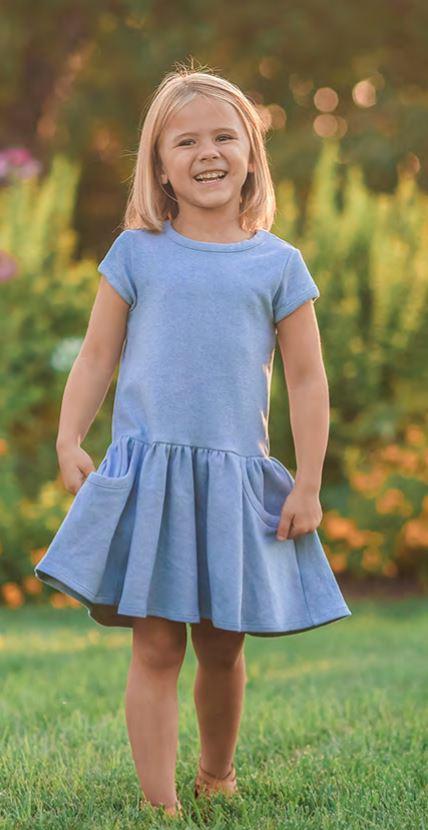 mabel honey blue dress