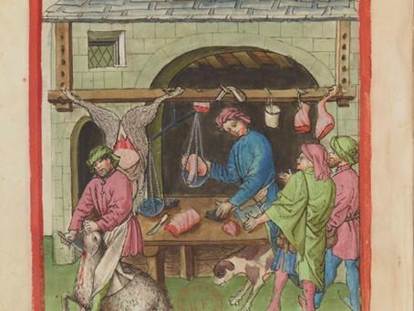 Bouchers, boulangers... et autres commerces au Moyen Âge