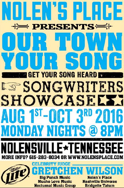 Gretchen Wilson Songwriters Contest