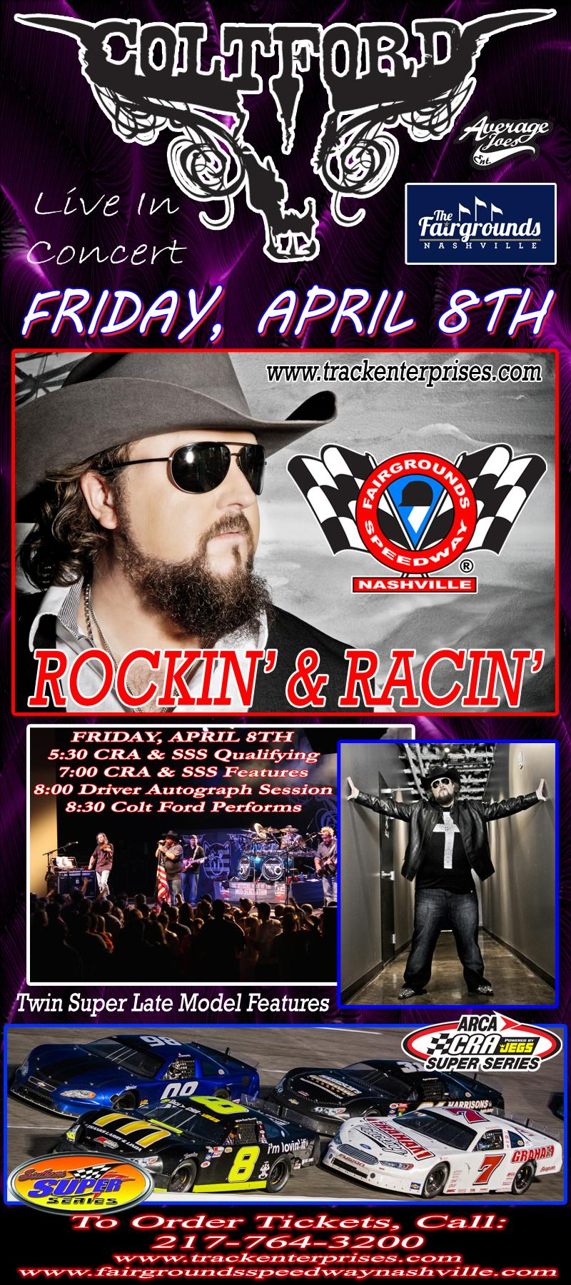 Colt Ford Racing Event & Concert