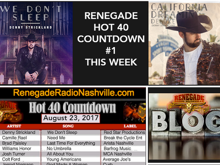 Denny Strickland lands #1 on RRN HOT 40 Countdown