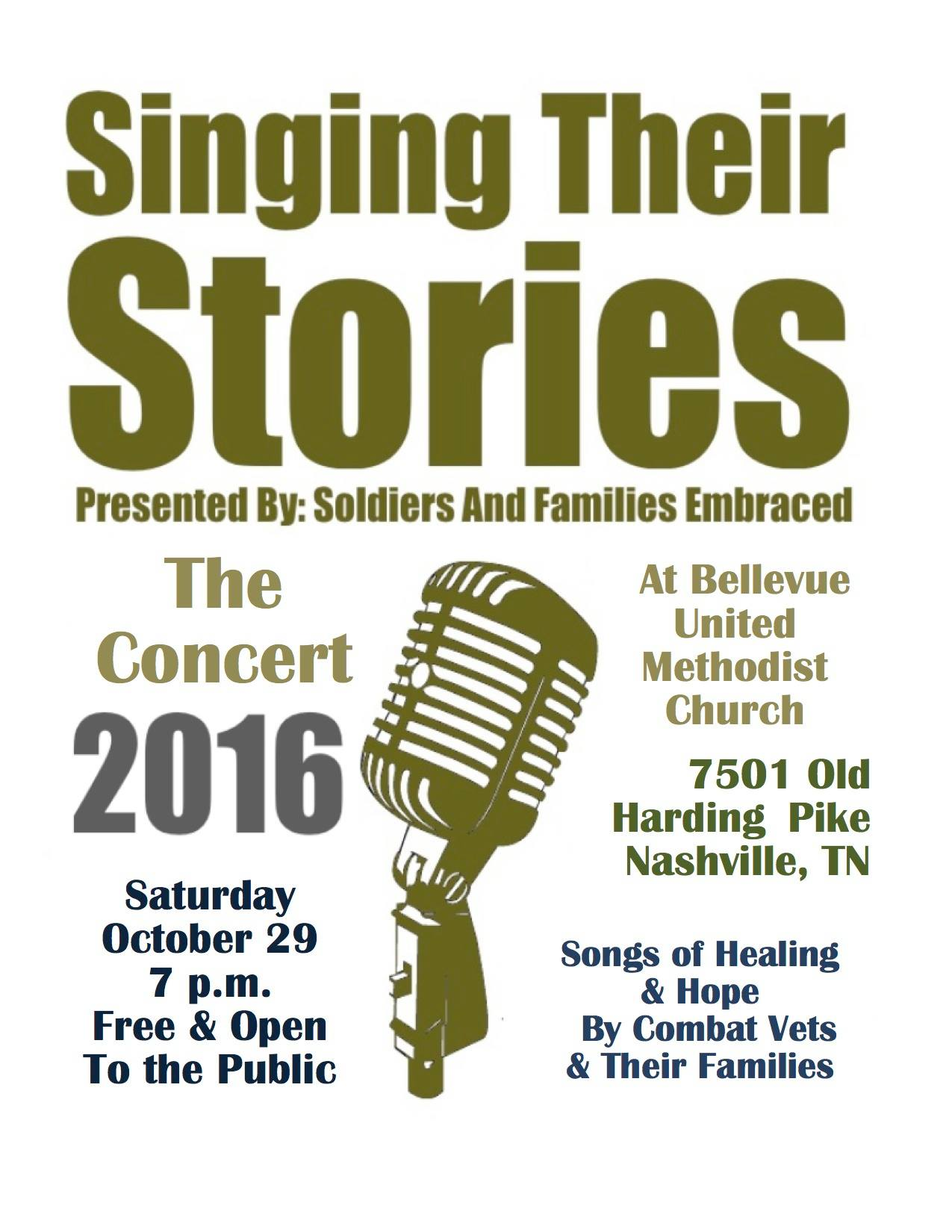 Singing Their Stories - The Concert