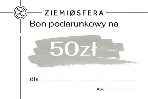 Bon podarunkowy na 50 zł