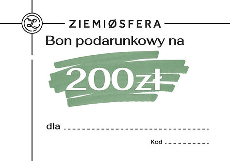 Gift card for PLN 200