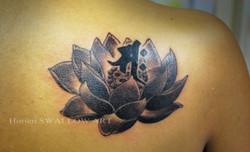 蓮・梵字/Lotus flower & Sanskrit word
