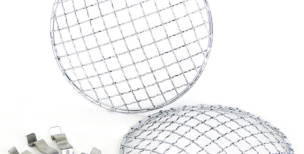"7"" Headlamp Mesh Grill (pair)"