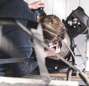 Marking up a torqued flywheel for a Pembleton V-Sport