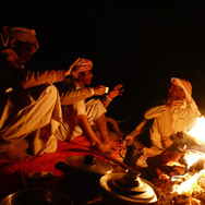 Evening campfires bring people together around light & warmth & are places where news & stories are swapped at the end of every day on the RSMT.